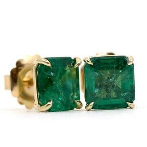 6.95 Carat Zambian Emeralds 18k Gold
